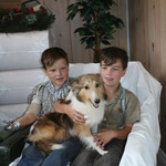 Danielle, our Sheltie Mom, and the boys